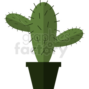 cactus flat icon vector art clipart. Royalty-free image # 412375