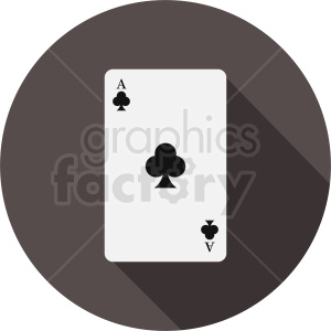 Ace of clubs card vector icon clipart. Royalty-free image # 412382