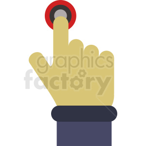 cartoon hand pushing button clipart. Royalty-free image # 412386