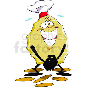 cartoon potato chip character clipart. Royalty-free image # 412400