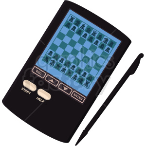 digital pocket chess board vector clipart clipart. Commercial use image # 412493