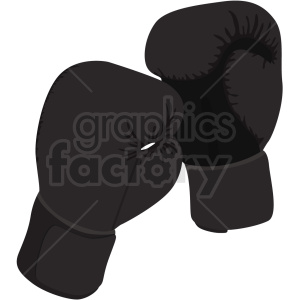black boxing gloves vector clipart clipart. Royalty-free image # 412511