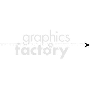 dotted line with arrow end vector asset clipart. Royalty-free image # 412582