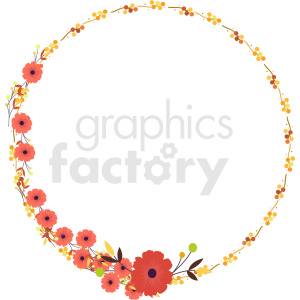 floral wreath frame vector clipart clipart. Commercial use image # 412623