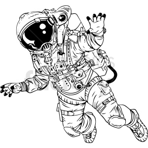 astronaut vector clipart clipart. Commercial use image # 412647