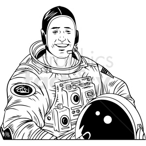 realistic astronaut vector clipart clipart. Royalty-free image # 412648