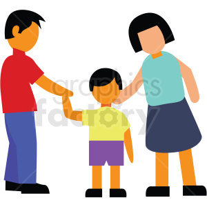 family vector clipart clipart. Commercial use image # 412729