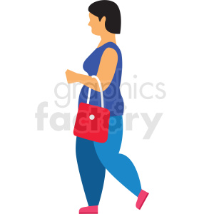 woman walking vector clipart clipart. Commercial use image # 412742