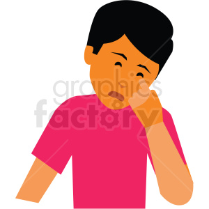 sick person vector clipart