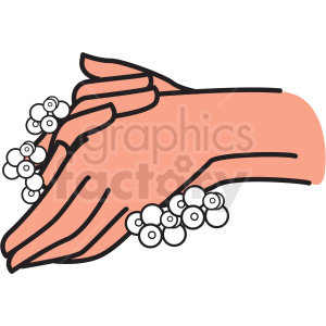 washing hands with soap and water vector clipart clipart. Commercial use image # 412756