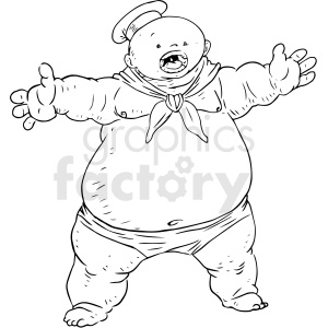 big boy vector tattoo design clipart. Commercial use image # 412765
