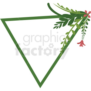 triangle shaped floral frame vector clipart clipart. Commercial use image # 412770