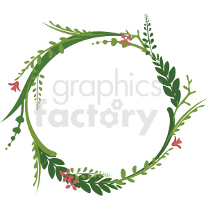 circle floral wreath frame vector clipart clipart. Royalty-free image # 412774