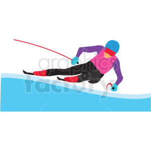 olympic snow skiing vector clipart