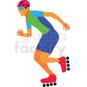 olympic rollerblader vector clipart clipart. Commercial use image # 412822