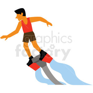 water hydro jet pack vector clipart icon clipart. Royalty-free image # 412955