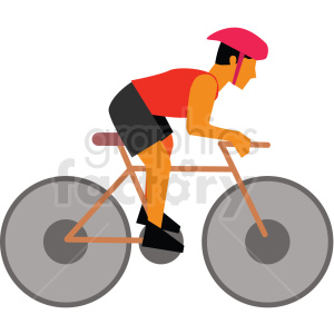 man riding bike vector clipart icon clipart. Royalty-free image # 412956