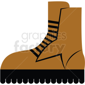 hiking boot vector clipart icon clipart. Commercial use image # 412968