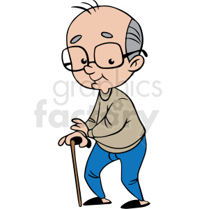 cartoon grandpa vector clipart clipart. Commercial use image # 413109