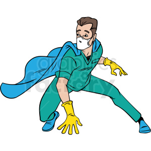 cartoon superhero vector clipart clipart. Commercial use image # 413256