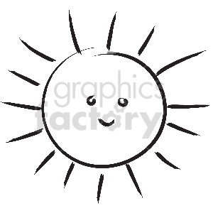 black and white tattoo sunshine vector clipart clipart. Royalty-free image # 413314