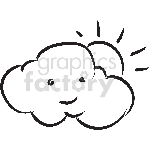 black and white tattoo partly sunny vector clipart