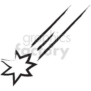 black and white tattoo shooting star vector clipart clipart. Commercial use image # 413340