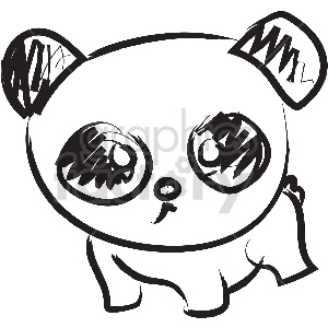 black and white tattoo panda vector clipart clipart. Commercial use image # 413360