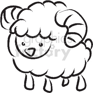 black and white tattoo ram vector clipart clipart. Royalty-free image # 413366
