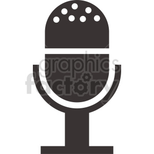 microphone vector icon graphic clipart 17 clipart. Royalty-free image # 413601