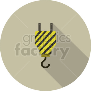 crane hook vector graphic clipart 3 clipart. Commercial use image # 413646