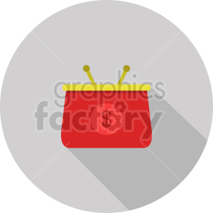 coin purse vector icon graphic clipart 3 clipart. Commercial use image # 413667