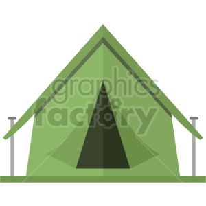 green camping tent vector graphic clipart clipart. Commercial use image # 413686