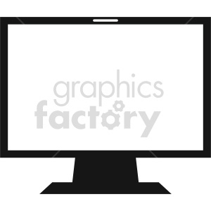computer monitor vector graphic clipart 5 clipart. Commercial use image # 413703