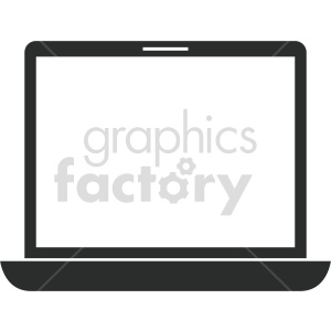 laptop computer vector graphic clipart 7