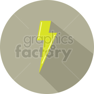 lightning vector icon graphic clipart 2