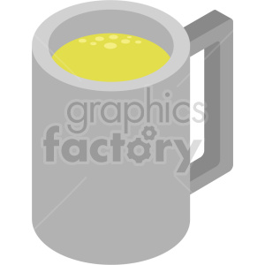 single beer mug bundle isometric vector clipart icon clipart. Royalty-free image # 413950