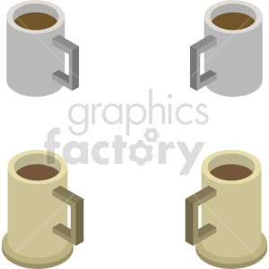 isometric coffee cup vector icon clipart 3 clipart. Commercial use image # 413956