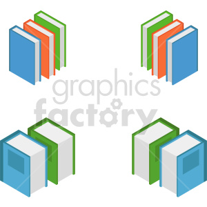 isometric books vector icon clipart 8 clipart. Commercial use image # 413973