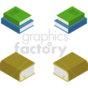 isometric book vector icon clipart 2 clipart. Commercial use image # 413978