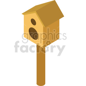 isometric bird house vector icon clipart clipart. Commercial use image # 413992