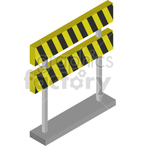 isometric road barricade vector icon clipart clipart. Commercial use image # 414021