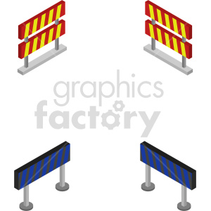 isometric road barricade vector icon clipart clipart. Commercial use image # 414033