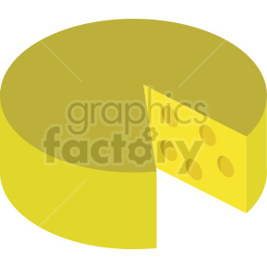 isometric cheese block vector icon clipart clipart. Commercial use image # 414081