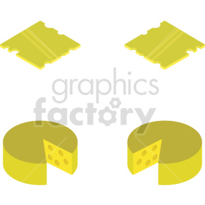isometric cheese vector icon clipart bundle clipart. Commercial use image # 414085