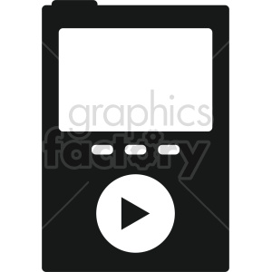 isometric music player vector icon clipart 3 clipart. Royalty-free image # 414117