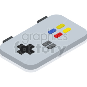 isometric game pad vector icon clipart 3 clipart. Commercial use image # 414145