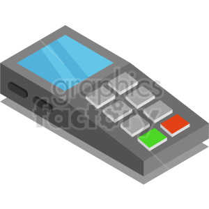 isometric pos payment system vector icon clipart 2 clipart. Commercial use image # 414147