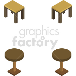 isometric table vector icon clipart 3 clipart. Commercial use image # 414157