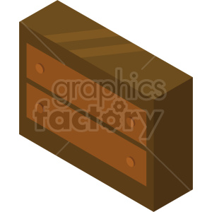 isometric dresser vector icon clipart 5 clipart. Commercial use image # 414181